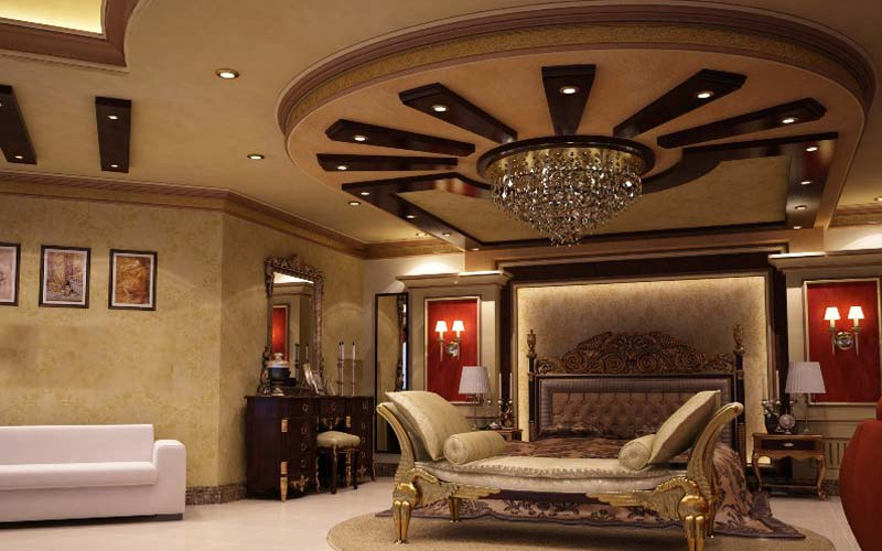 bedroom-design-with-luxury-gypsum